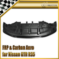 For Nissan GTR R35 09-11 GTR AS Style Carbon Fiber Front Lip With Undertray