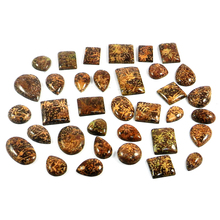 Celebrate The Season With Christmas Special Offer!! 35 Pcs Natural Mushroom Jasper 100 Gram, Mix Cab Gemstone For Jewelry SI0603