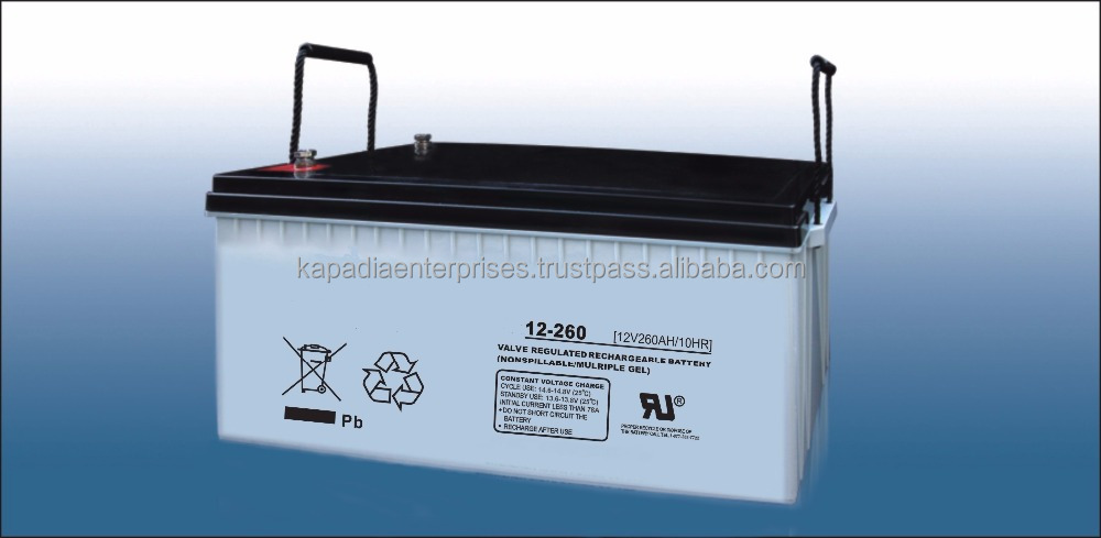 12V 260Ah Gel Deep Cycle Battery