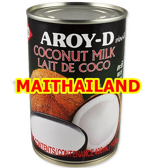Coconut Milk Aroy-D 400ml Canned Coconut Milk