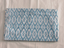 indian handmade handprinted wood block Ikat print cotton fabric