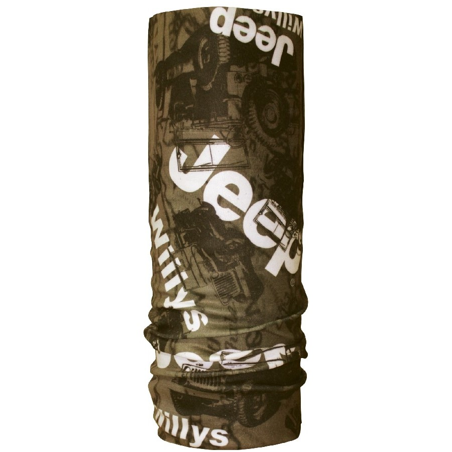 CK Bandana 1402001 Multifunction Buff Motif Willys Jeep