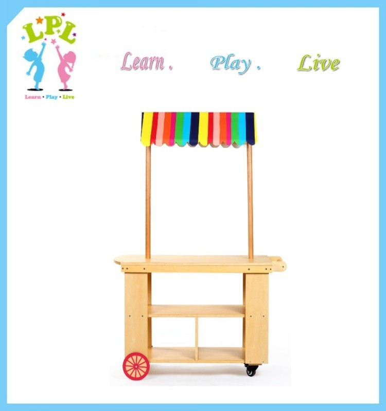 All kind of school furniture kids role play furniture plywood mobile cart
