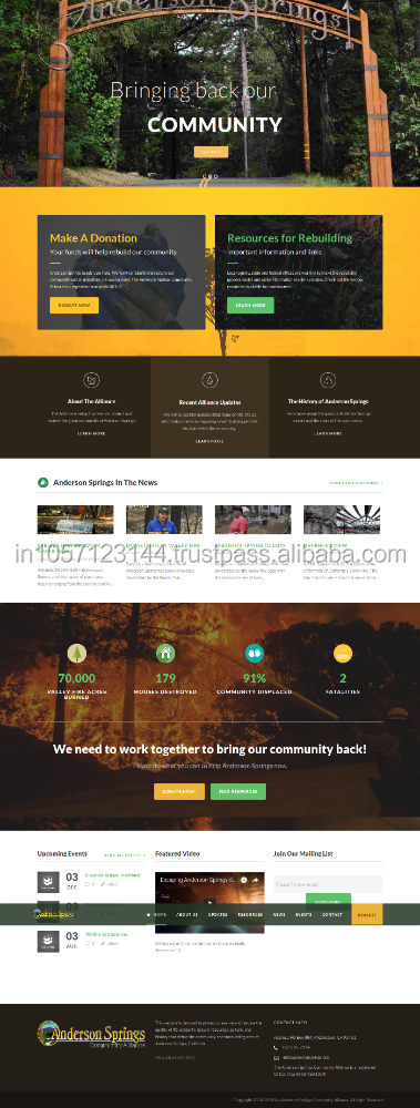 Charity,community Ecommerce website design, website development, marketing websites service