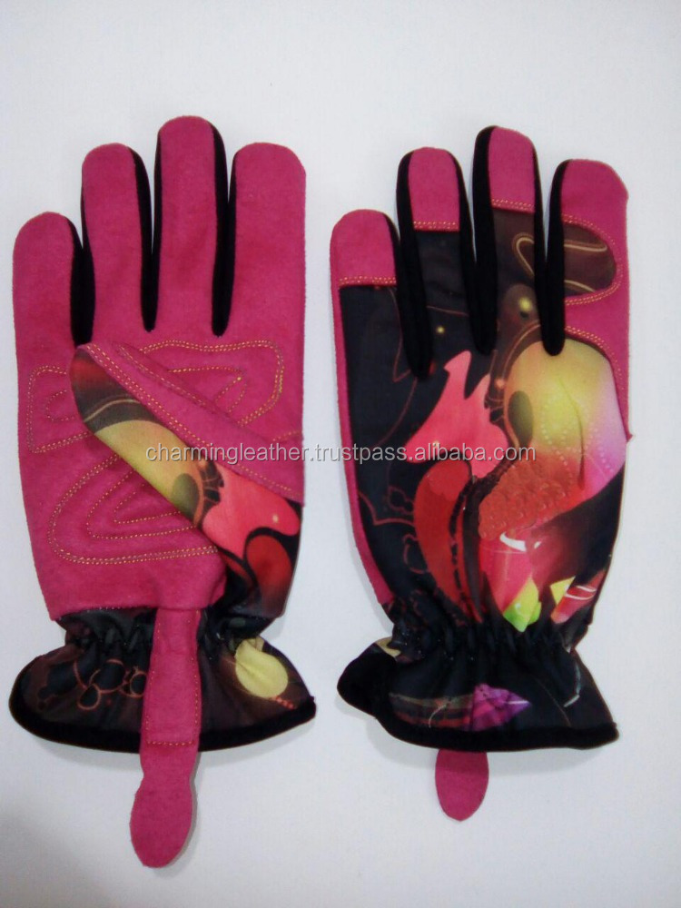 Stretch Fabric Mechanic Gloves with sublimation printing