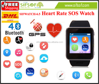 SIFWATCH-6.5 Watch phone with SOS SMS Heart Rate Monitor GPS Watch with heart rate monitor.