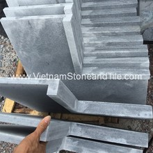 Vietnam Bluestone swimming Pool Tiles, Profile honed, sandblasted gothic finishes