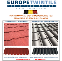 Metal roof tile from Belgium