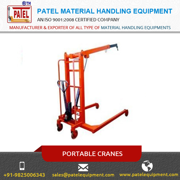 New Technology Based Portable Cranes by Branded Company at Low Price