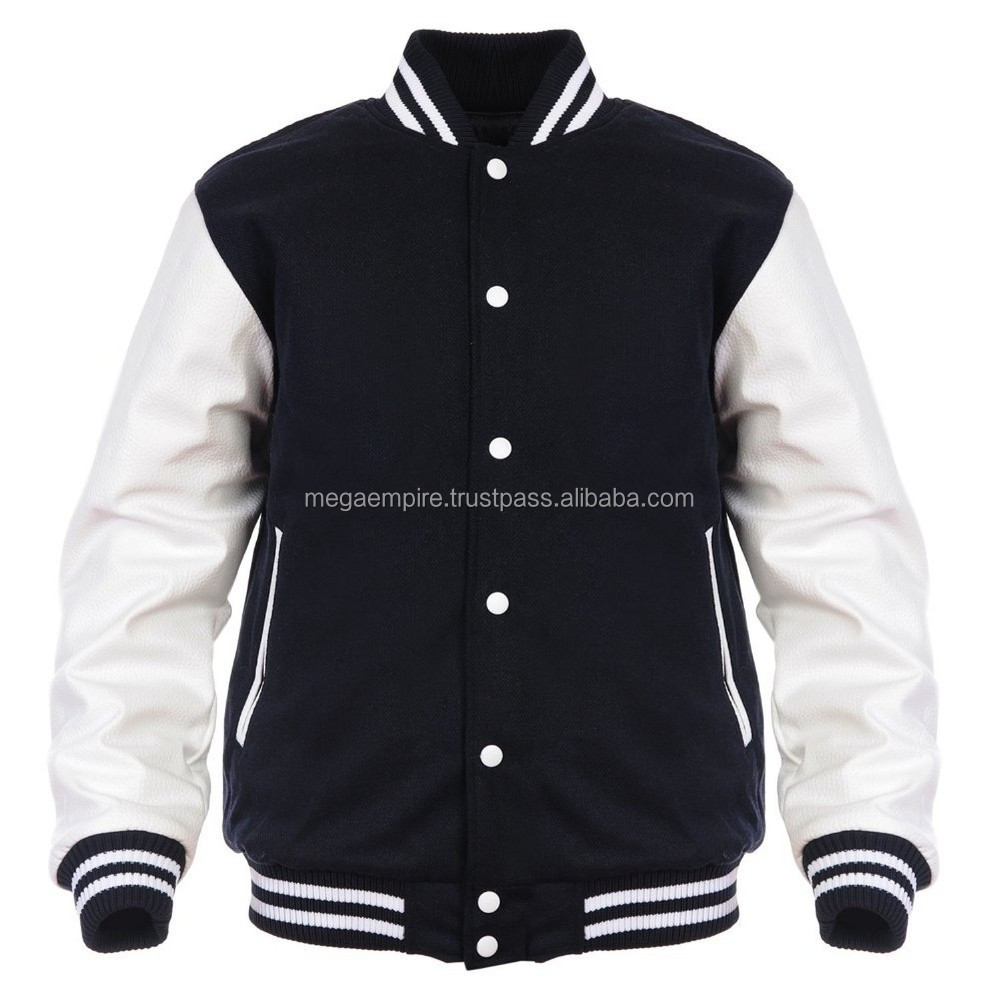 Angel cola men's Varisty wool & synthetic letterman jacket