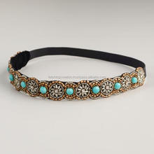fashion beads hair bands plastic headbands with rhinestones girls