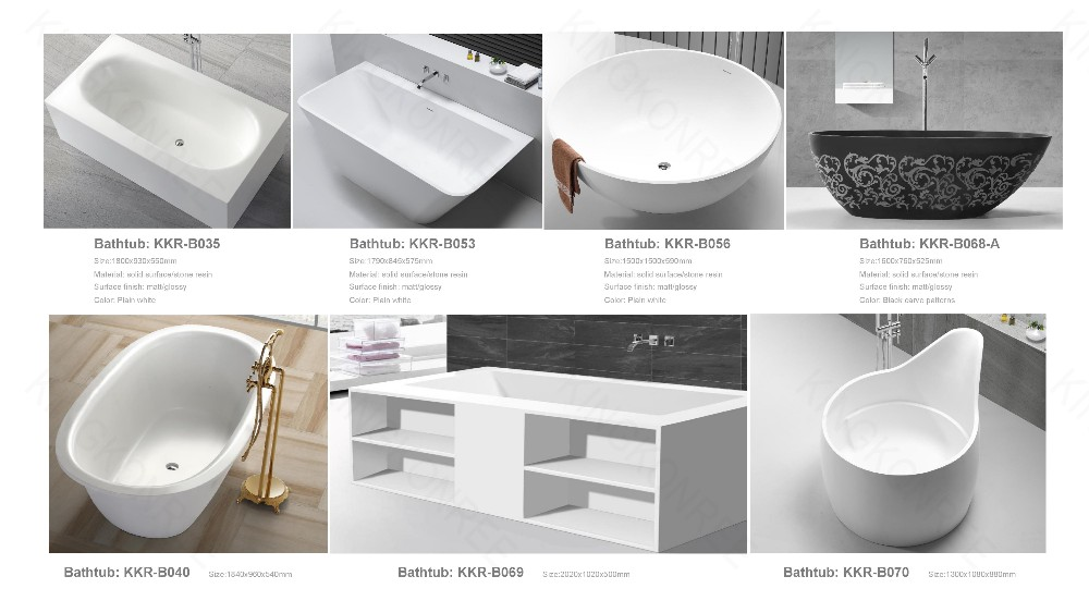 KKR Factory Wholesale Freestanding Solid Surface Very Small 52 inch Bathtub Price
