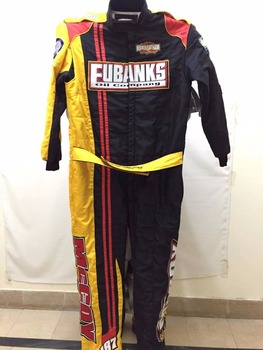 Nomex Car Racing Custom Suit Yellow Black Red