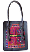 handmade Indian Vintage Banjara Handbag Indian Leather Tote Bag