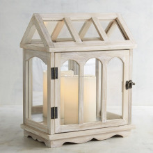 Creative Home Decorative Wooden White Table Lanterns