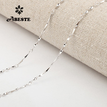 ABESTE Wholesale Fashion Jewelry 925 Sterling Silver Twisted Melon chains for Necklace Classic Style