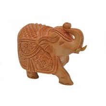Indian hand carved wooden elephant