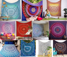 Indian Tapestry Mandala Design Queen Wholesale Indian Printed Bedspread Bedsheet Wall Decor Tapestry