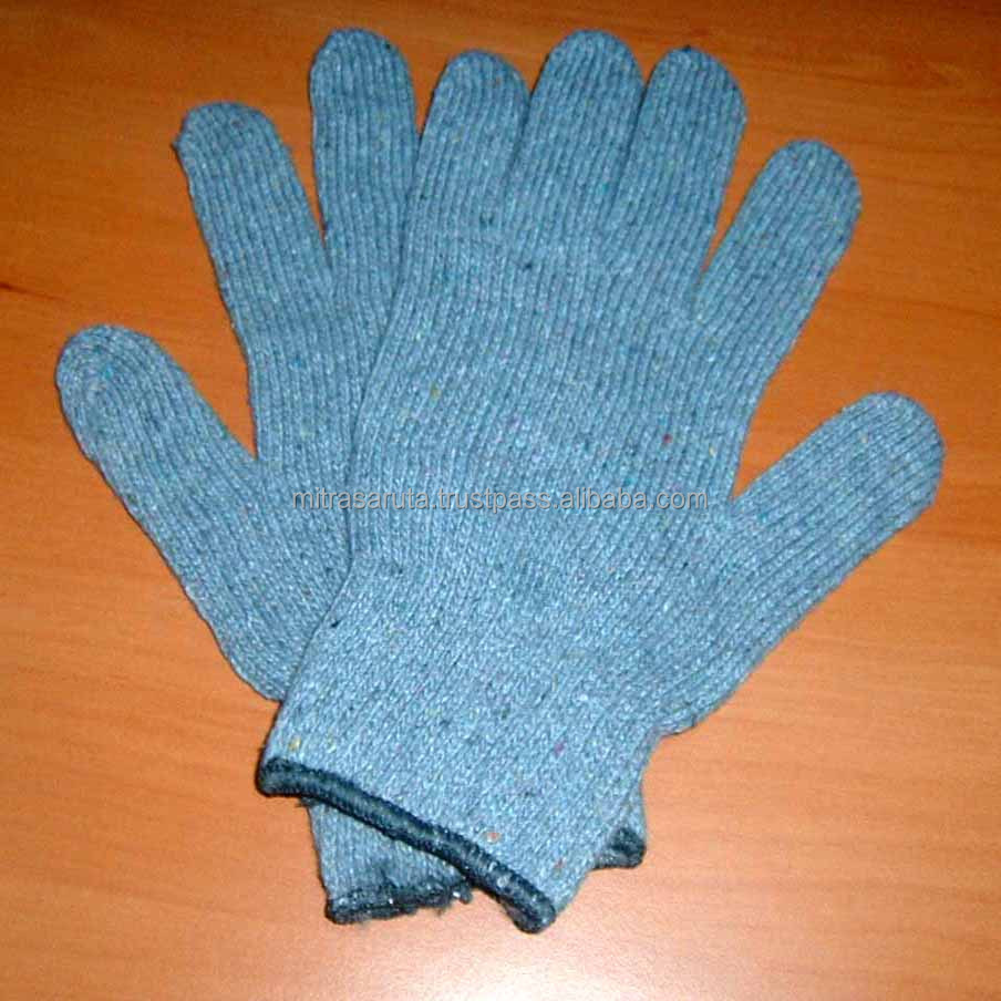 SALE Medium Weight String Knit Glove Grey Color