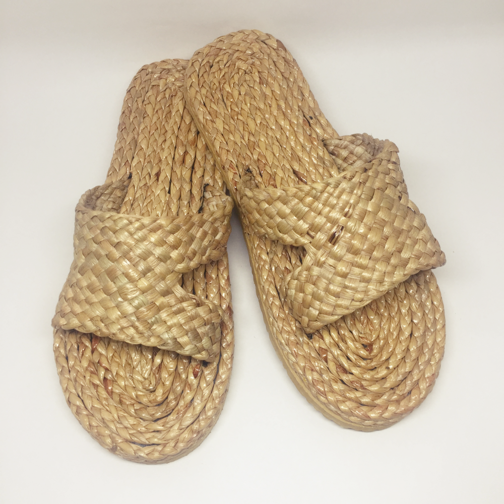Natural Shoes Craft Spa Slipper, Hotel Sandal Beach Shoes Straw Shoe Handmade Product of Thailand
