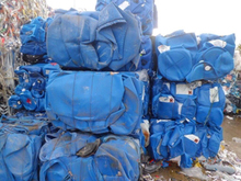 HDPE BLUE BALED DRUMS SCRAP