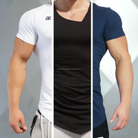 New Mens Long Tail Tee Short