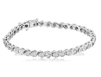 Certified 3.64 Tcw Earth mine Natural Brilliant Round Cut I2 Clarity White Diamonds Hot Selling Tennis Bracelet At Free Shipping
