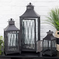 Wedding Decoration candle holder with door net design stainless steel wholesale lantern
