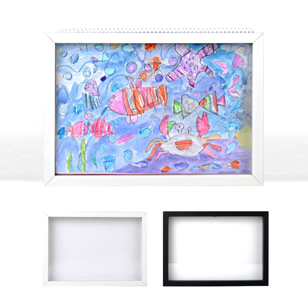 Sketchbook B4 Photo Frame White Black Drawing Pictures Art craft Works Wall