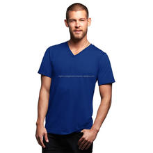 Men Short Sleeve V Neck Tshirts Fitted Branded custom t shirt in bulk 100% Cotton 180GSM Blank/Printed t-shirts Gym Sports Tee