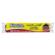 Foxlife 116 Liter plastic LDPE extra large size black color recyclable garbage trash bag for household and cleaning