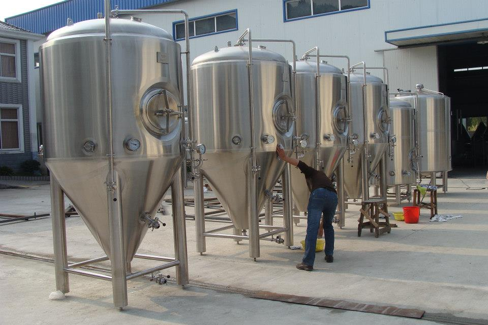 304 Stainless Steel Glycol Conical 1000l Fermentation Tank