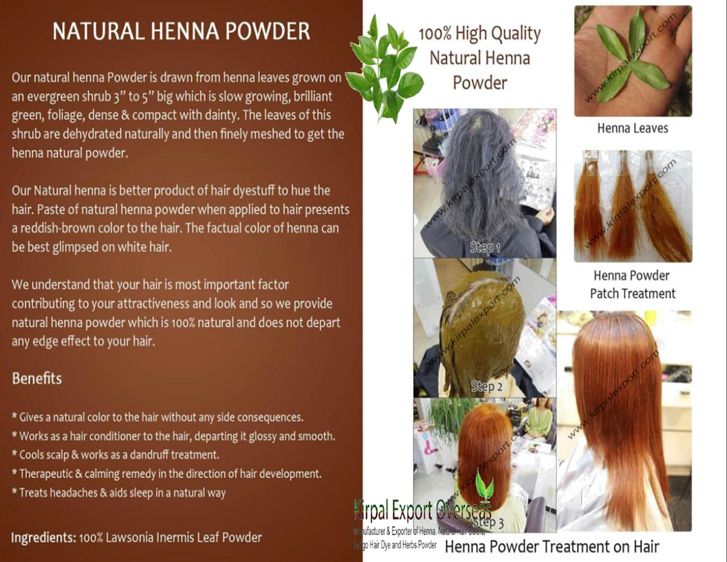 Highlight Henna Leaf Powder Natural Organic Herbal Cassia Obovata Indigo Hair Dye Color Powder
