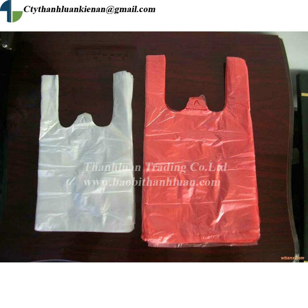 2017 HDPE, PE CHEAPEST PRICE newest model t-shirt plastic shopping bag