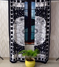 Zodiac Digital Print Exquisite Fabric Shower Curtain Machine Washable Home Decor Beautiful Curtains