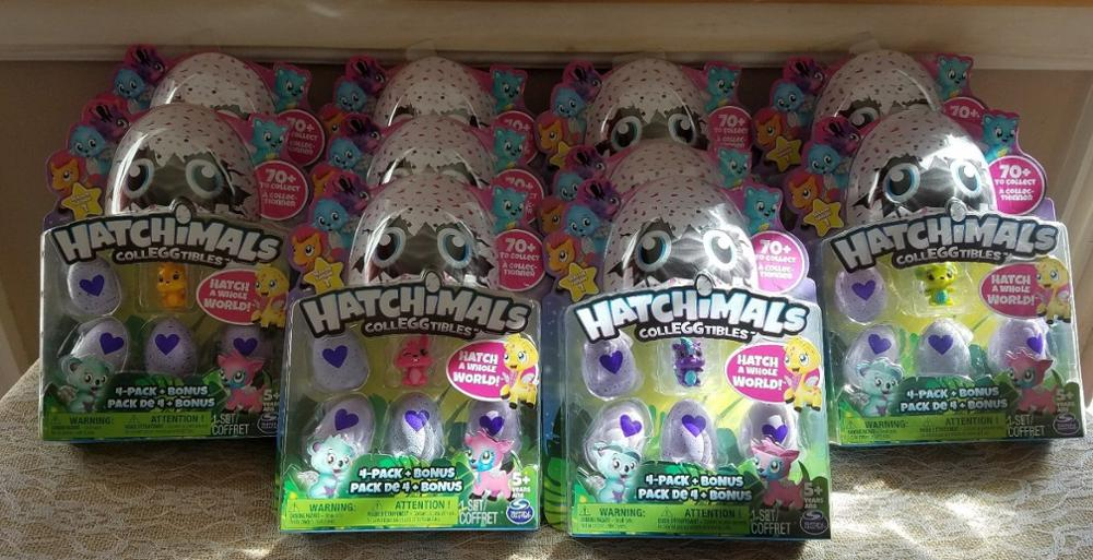 BUY AUTHENTIC 100% Hatchimals CollEGGtibles 4Pack Bonus (Styles & Colors Vary) NEW & Sealed