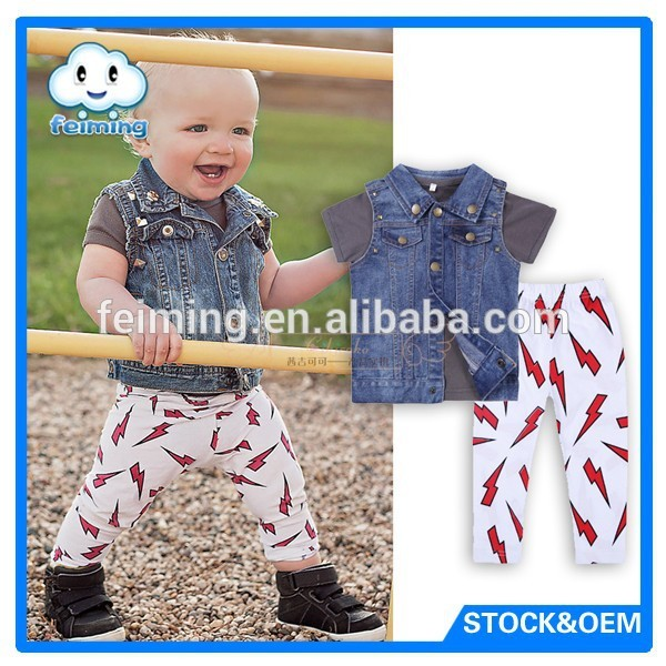 2018 Hot sale latest baby boys clothes set boys kids dress