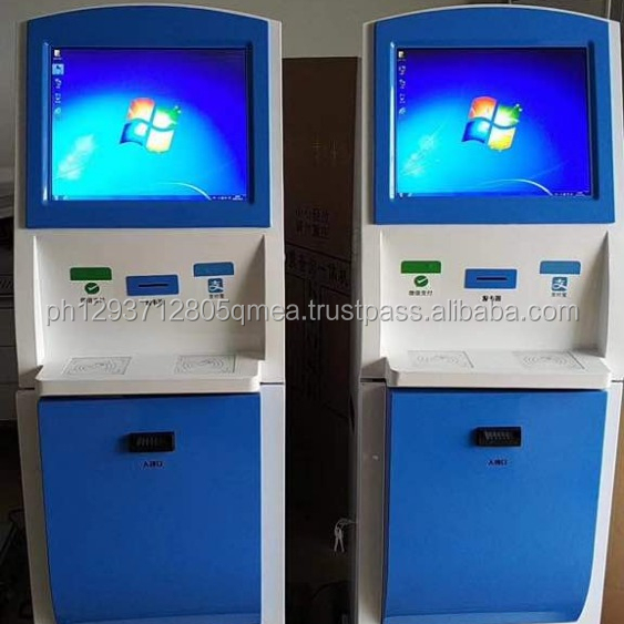 touch screen business card dispenser bitcoin ATM machine kiosk