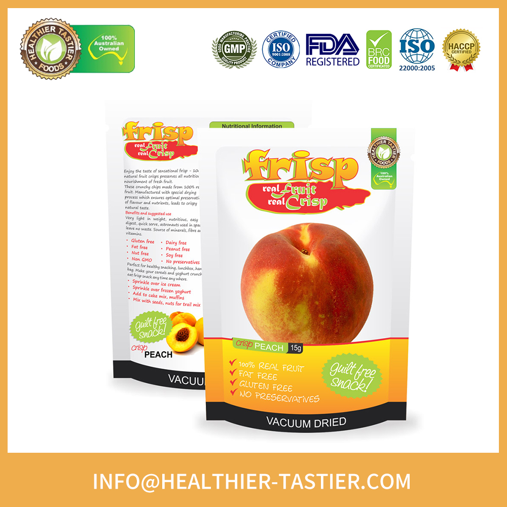 100% Healthy and Natural No Sugar Oil Added Organic Dried Food Peach for Sale