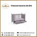 Solid Wooden Baby Cot from Malaysia furniture