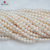 cheap 7-7.5 mm B1 low quality	round white heavy blemish freshwater pearl strands wholesale