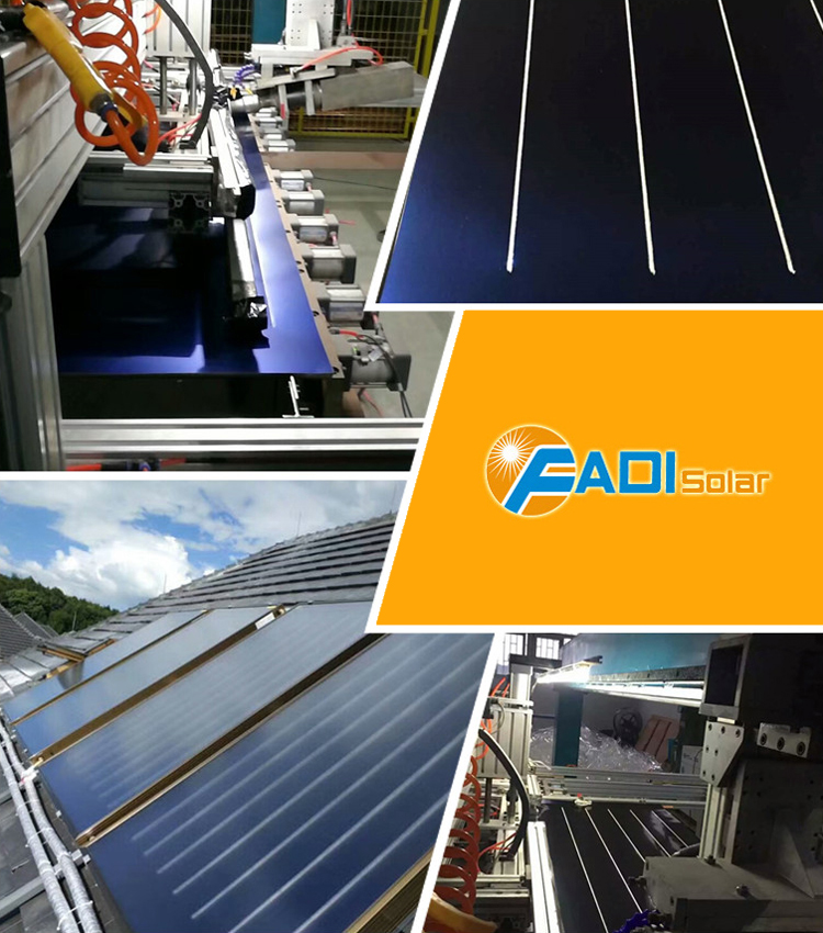 2000*1000*80mm 2000*1250*80mm Size Flat Panel Solar Collector
