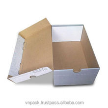 Foldable paper shoe boxes packaging corrugated cardboard