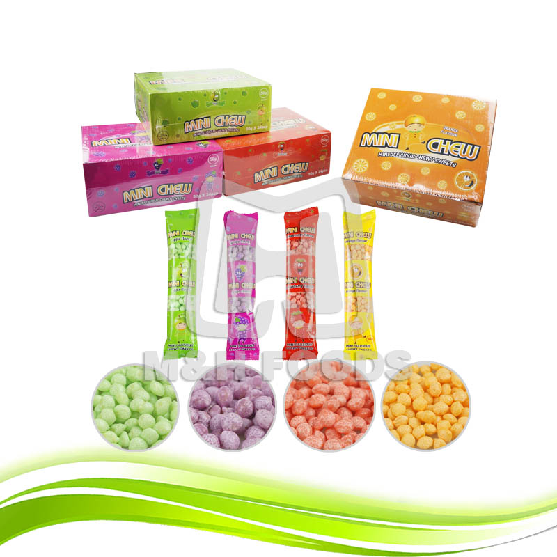 Mix Colorful Mini Fruit CC Sour Bean Chewing Candy