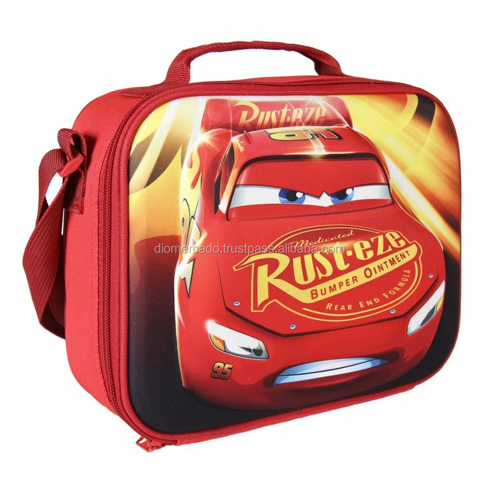Insulated lunch bag for kids 3D EVA Cars 235X195X80MM