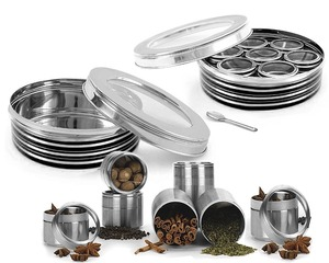 stainless steel Round Spice Tin Box/Can