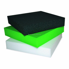Low density polyethylene foam/high density polyethylene foam block