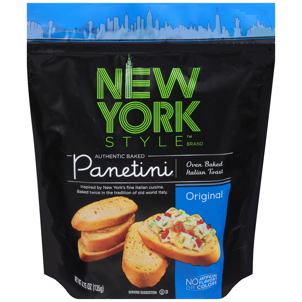 Original Toast Flavor 4.75 oz NEW YORK STYLE Panetini chips snacks