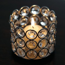Crystal beads tea light candle holder, Small candle holder for wedding centerpiece supplier