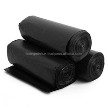 Cheap black HDPE/LDPE plastic garbage bags